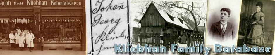 Kliebhan / Pestmal Family Database